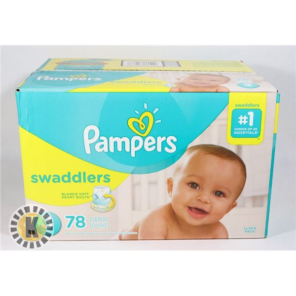 CASE OF PAMPERS SWADDLERS SIZE 3