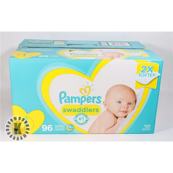 CASE OF PAMPERS SWADDLERS SIZE 1