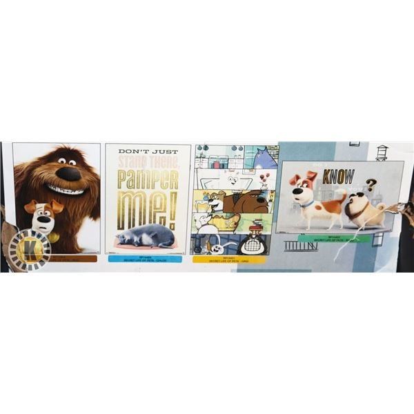 BUNDLE OF 4 LIFE OF PETS POSTERS