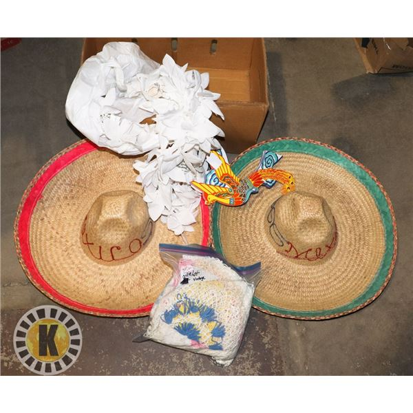 MEXICAN HAT, PAPER LANTERN, DECORS, AND MORE