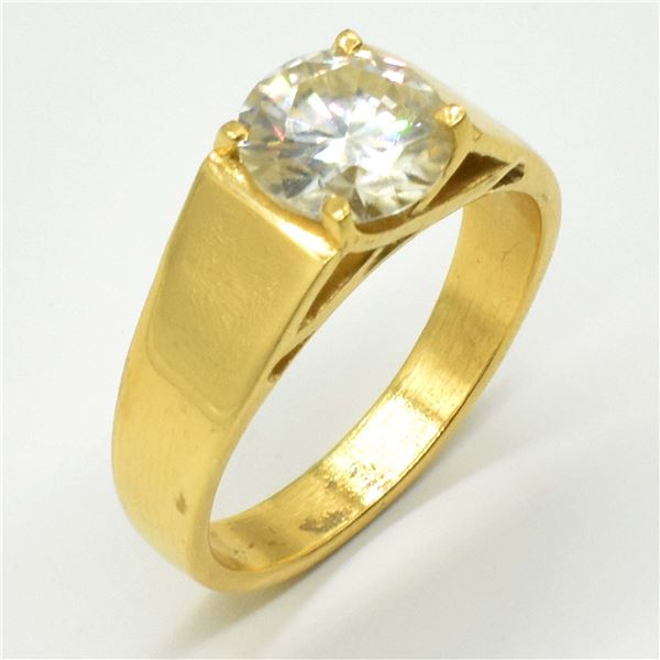 ROSEGOLD PLATED SILVER CERTIFIED MOISSANITE