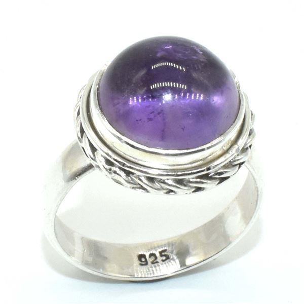 SILVER AMETHYST(5.5CT) RING (~WEIGHT 5.5G)