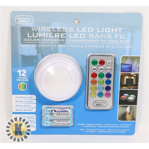 NEW WIRELESS LED COLOUR CHANGING LIGHT WITH