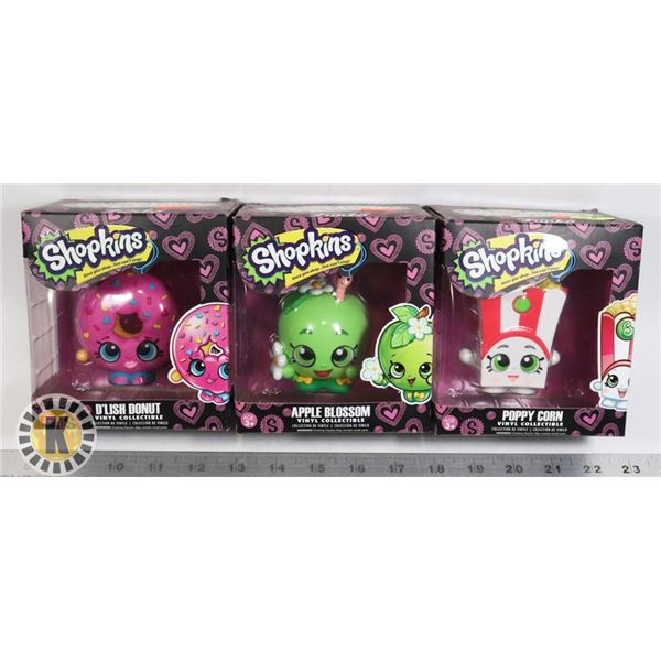 LOT OF THREE SHOPKINS BY FUNKO FIGURES
