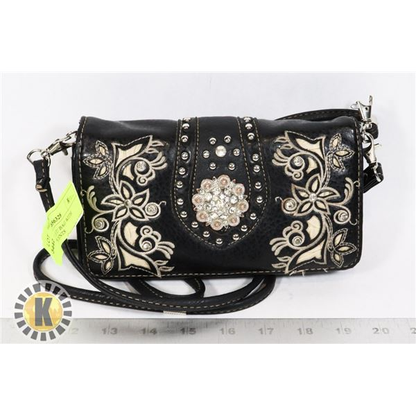 WOMENS WALLET/ BAG WITH RHINESTONE ACCENTS