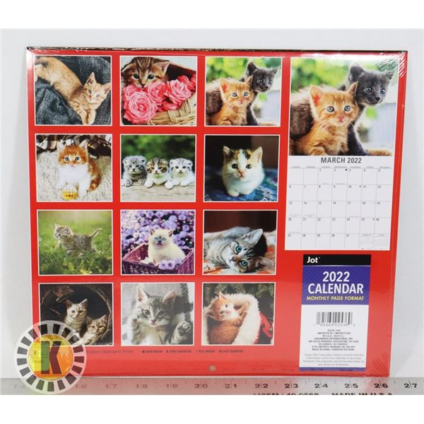 NEW 12 MONTH 2PACK CAT THEME 2022 CALENDARS