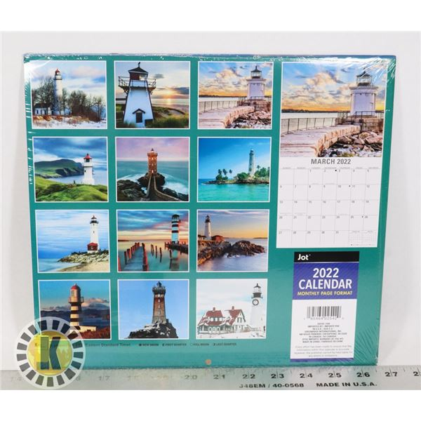 NEW 12 MONTH 2PACK 2022 LIGHTHOUSES CALENDARS