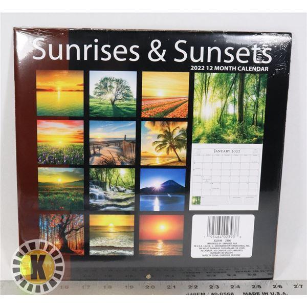 NEW 12 MONTH 2022 SUNRISES AND SUNSETS CALENDAR