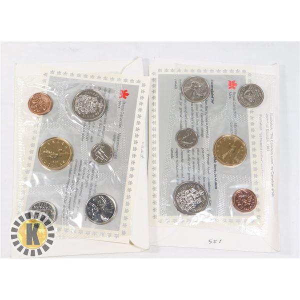 1988-1992 RCM MINT COIN SETS, BRILLIANT