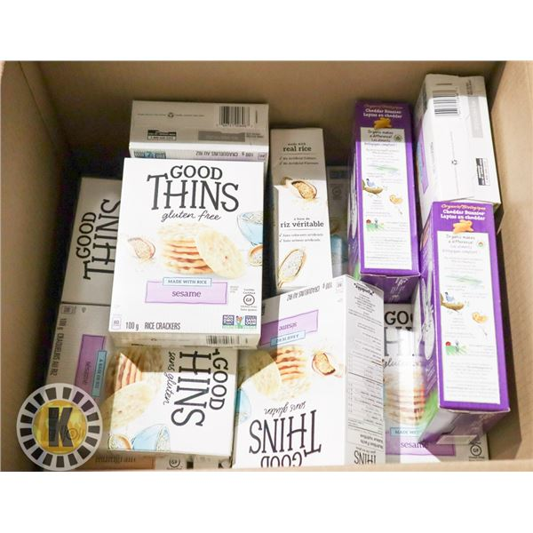 BOX OF GOOD THINS (GLUTEN FREE) CRACKERS