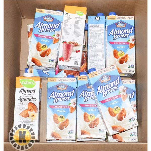 BOX OF ALMOND MILK (RECENTLY EXPIRED)