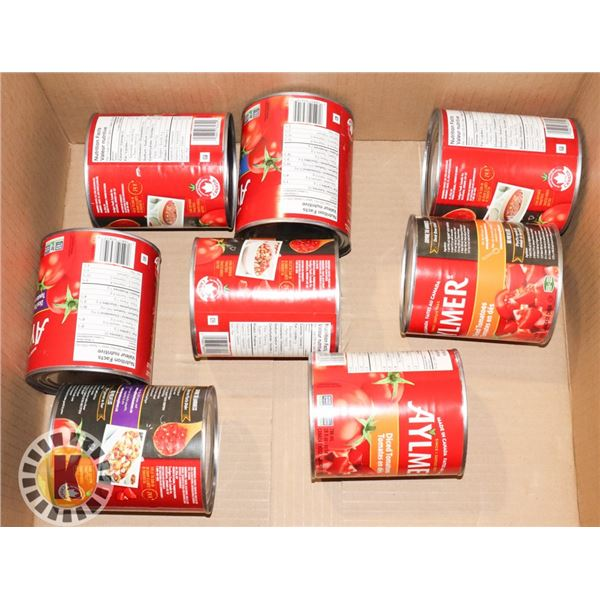 BOX OF CANNED TOMATOES (DICED, CRUSHED)