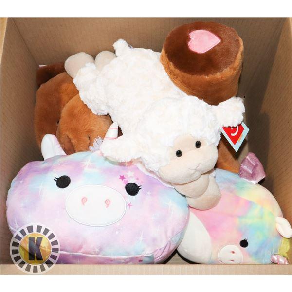BOX OF CHILDREN'S STUFFED TOYS