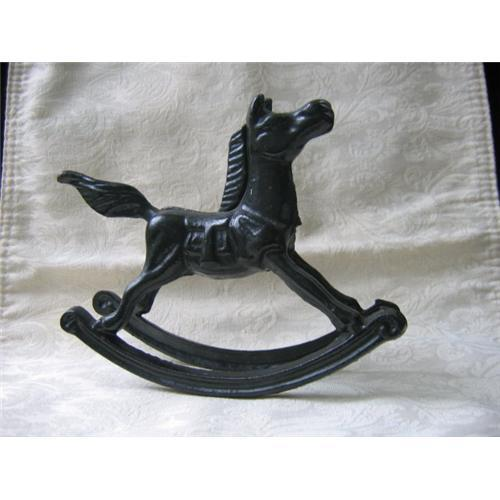 Antique Small Cast Iron Rocking Horse Toy 2215845