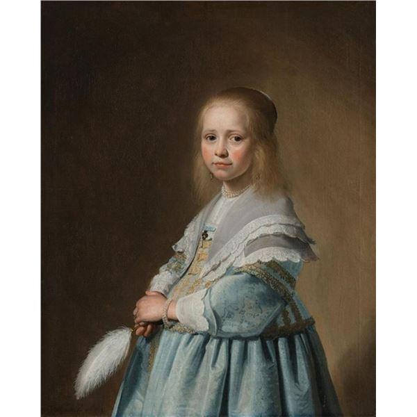 Johannes Cornelisz - Portrait of a Girl in Blue