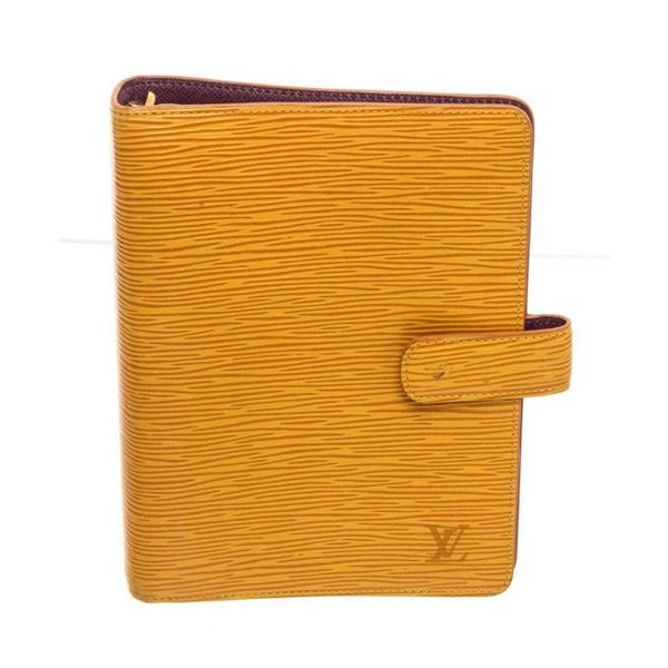 Louis Vuitton Yellow Epi Leather Agenda MM Wallet