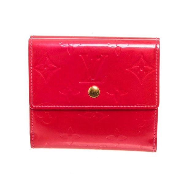 Louis Vuitton Red Elise Wallet