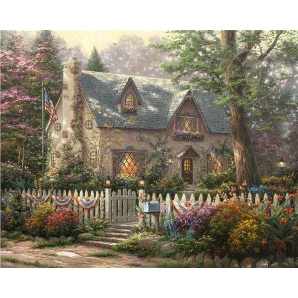 Liberty Lane Cottage by Thomas Kinkade