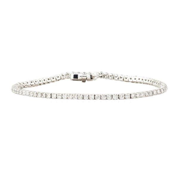 2.85 ctw Round Brilliant Cut Diamond Tennis Bracelet - 14KT White Gold