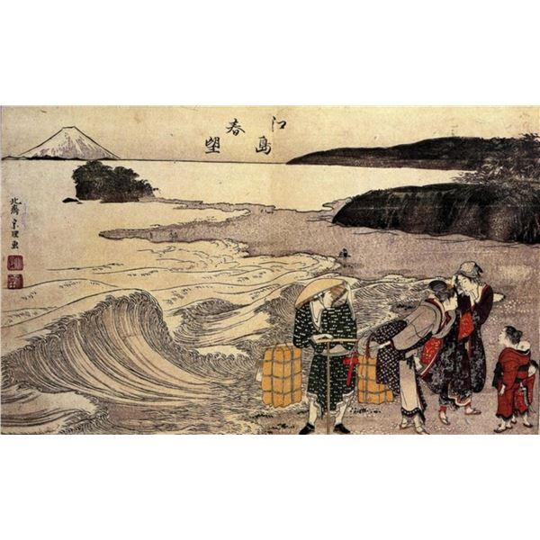 Hokusai - Women on the Beach of Enoshima