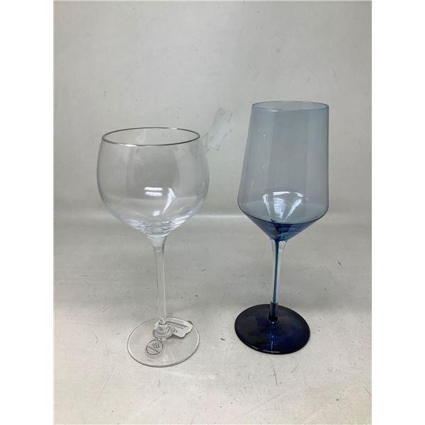 Lot Of 2 Wine Glasses