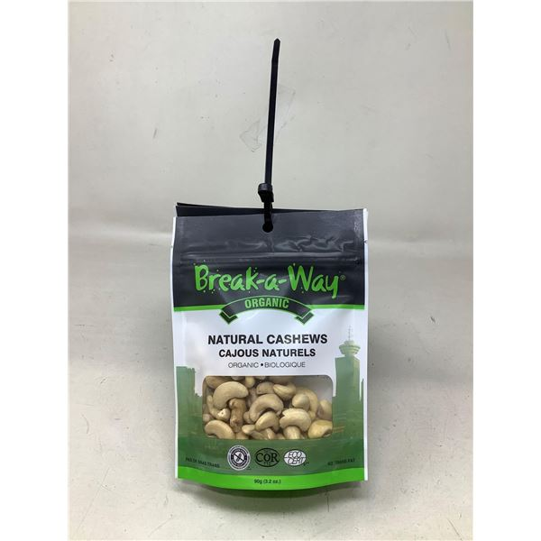 Break-a-Way Natural Cashews (6 X 90G)