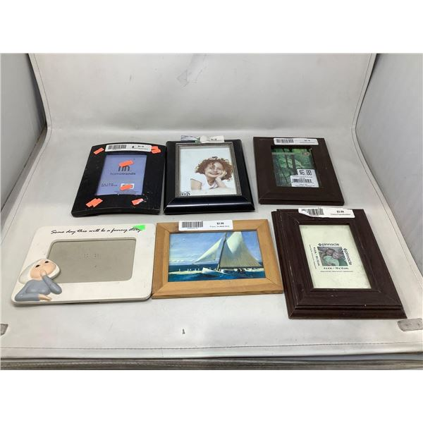 Lot Of 6 Assorted Picture Frames