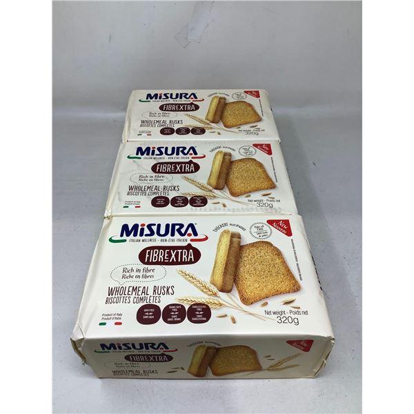 Misura Wholemeal Rusks (3 X 320G)