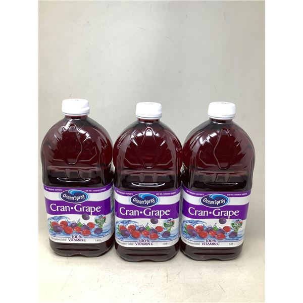 Ocean Spray Cran-Grape (3 X 1.89L)