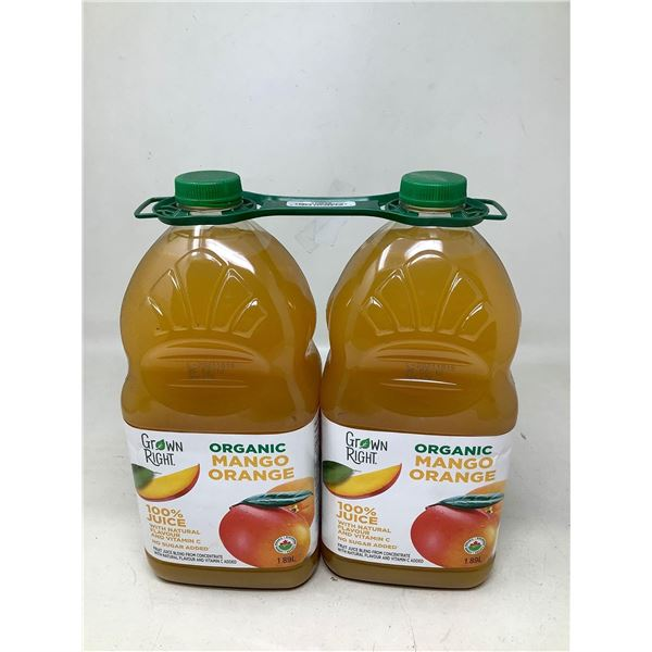 Grown Right Organic Mango Orange Juice (2 X 1.89L)