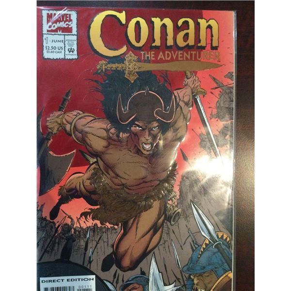 Lot Of Conan The Adventurer Comic Books