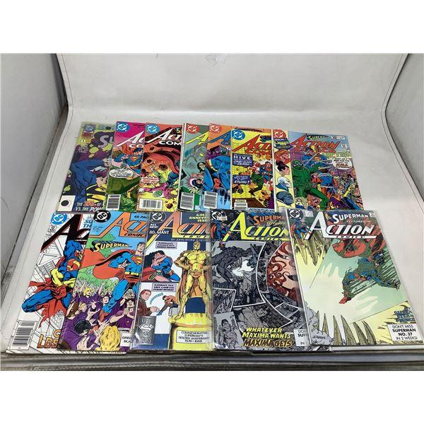 Lot Of Superman Action Comic Books
