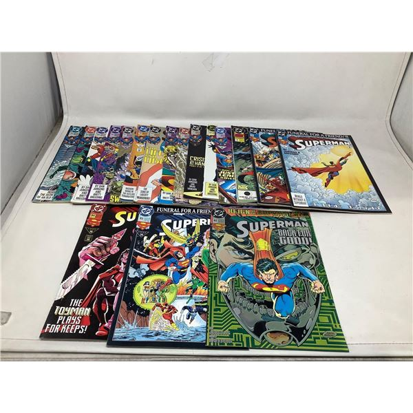 Assorted Lot Of Superman Comic Books