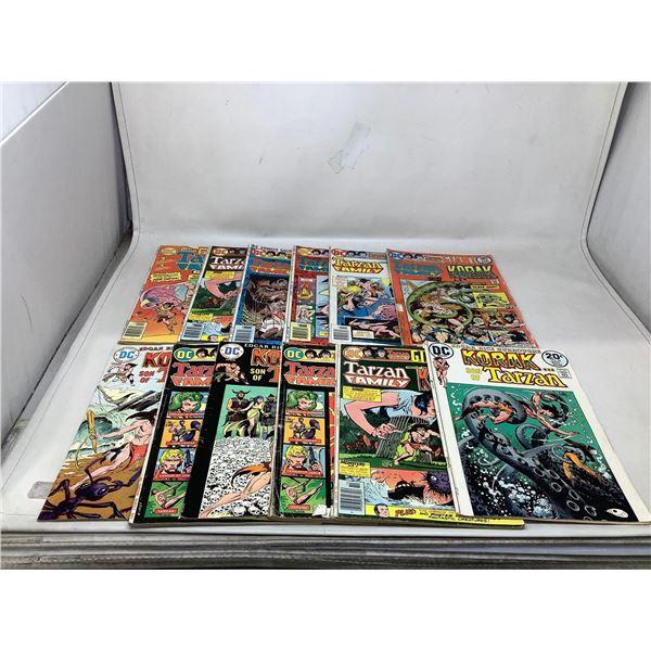 Assorted Lot Of Tarzan Comic Books