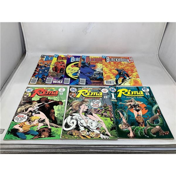 Mixed Lot Of Blackhawk And RimaComic Books