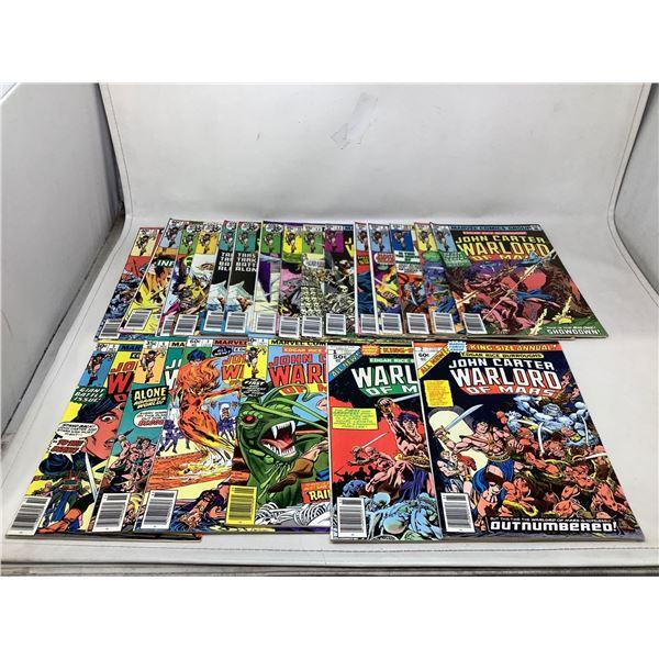 Lot Of John Carter Warlord Of Mars Comic Books