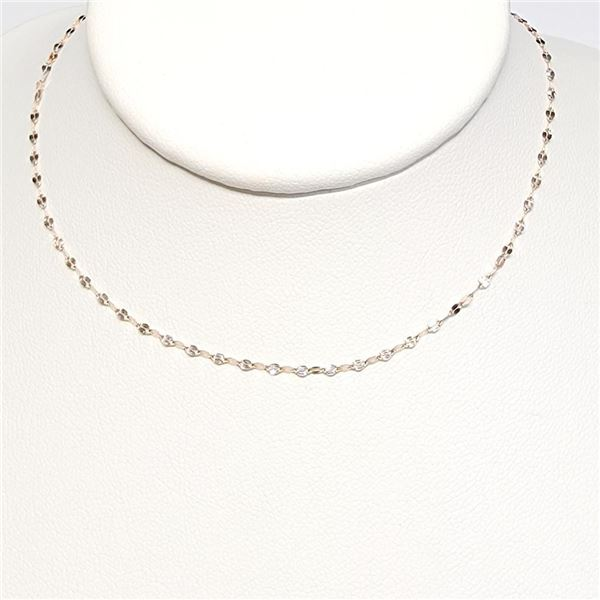 18K Rose Gold Rose Gold Chain Necklace (~Size 0) (~length 16 inches) (~weight 0.78g), Made in Canada