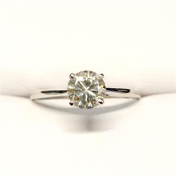 10K White Gold Moissanites(0.72ct) Ring (~Size 6.75)(Ring is resizable for $40) (~length 0 inches) (