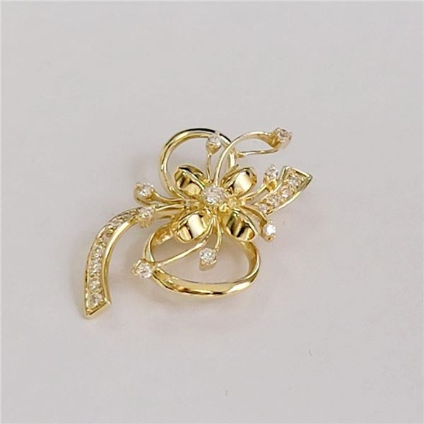 14K Yellow Gold Pendant (~Size 0) (~length 0 inches) (~weight 2.61g), Made in Canada, Suggested Reta