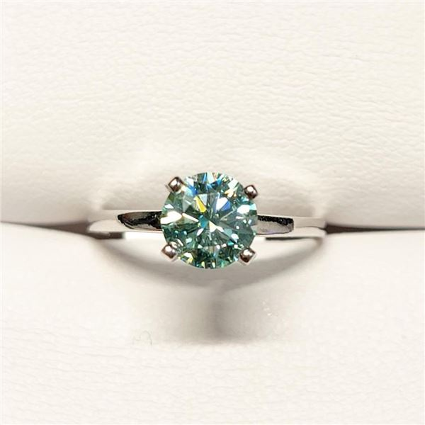 10K White Gold Moissanites(1.05ct) Ring (~Size 6)(Ring is resizable for $40) (~length 0 inches) (~we