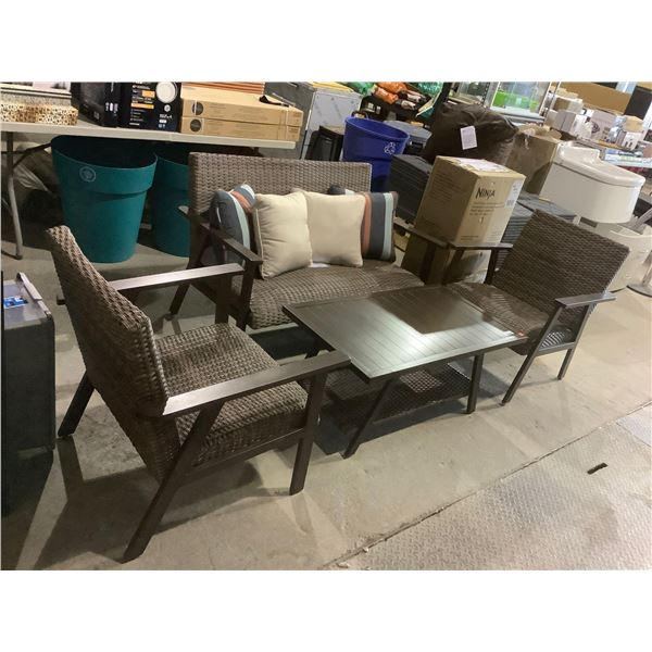Ove 4-Piece Patio Set(Table Size: 21 1/2in x 39 1/2in x 18in H)