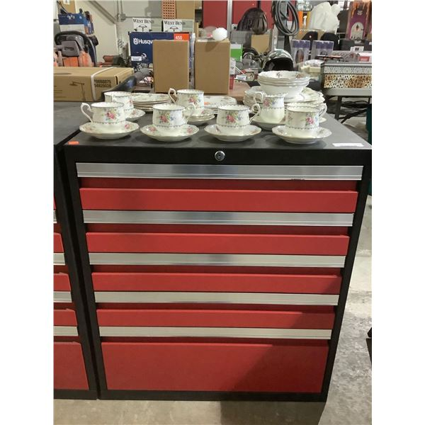 Metal Base Tool Box in Red (28in x 22in x 32in)