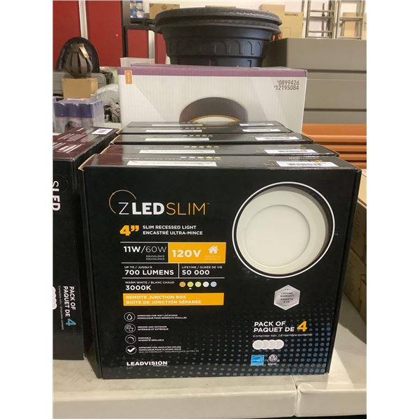 Leadvision ZLED Slim Dimmable Adjustable Kelvin 4in Slim Recessed Light with Remote Junction Box 11W