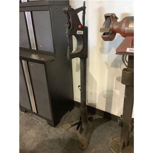 Foot operated rivet Press