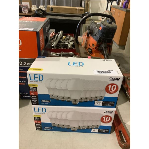 Feit Electric 10-Pack A19 Bulbs Lot of 2