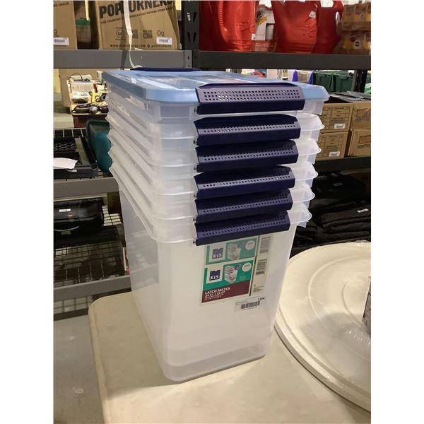 KIS Lot of 6 24.6L Storage Bins (One Lid)