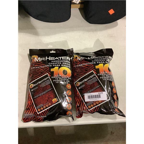 Mr Heater 10-Pair Handwarmers Lot of 2
