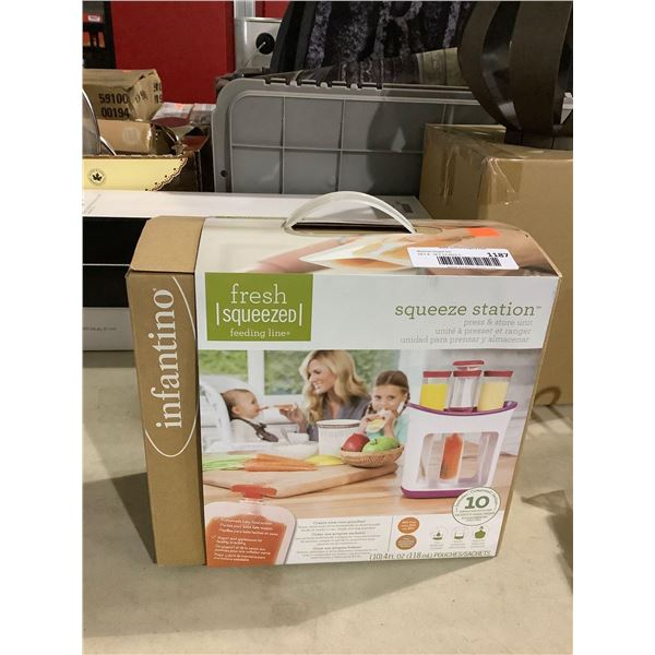InfantinoBaby Food Squeeze Station Press & Store Unit