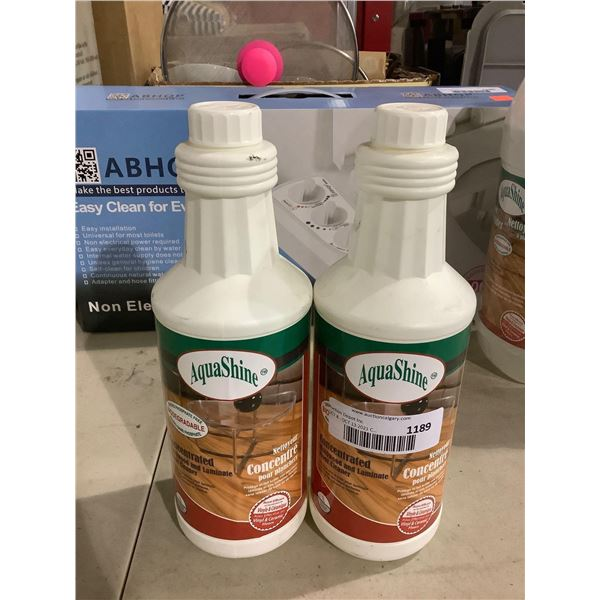 AquaShineConcentrated Hardwood and Laminate Floor Cleaner 1L Lot of 2