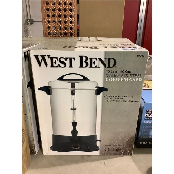 West Bend 10L Stainless Steel Coffeemaker (220-240Volts)